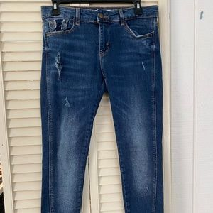 Z1975 MID RISE SKINNY JEANS WITH RIPS